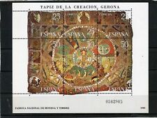 Spanish Stamps - 1980 The Creation Tapestry Gerona Sheet In MNH Condition