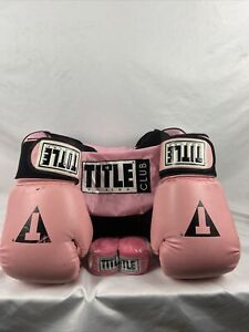 Title Boxing Pink Set Gloves/Bag/Handwraps Womens