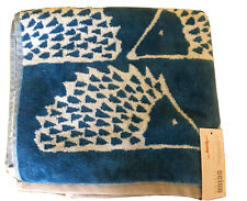 Scion Spike the hedgehog  hand towel BNWT blue and white  100% cotton