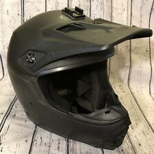 Bell MX-2 Motorcycle Dirtbike Moto Helmet Go Pro Mount FMVSS 2014 Matte Black XL
