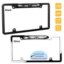 US Car License Plate Frame Front/Backup Camera Rear View Reverse Cam Parking Kit