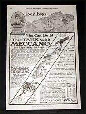1917 OLD MAGAZINE PRINT AD, MECCANO CONSTRUCTION SETS, LIKE A MAGIC BOX OF FUN!