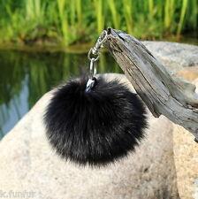 pompon de fourrure renard bleu noir 9-11 diamètre Puschel plümmel Bonnet à sac