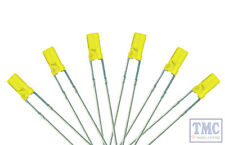 LED-YLF3 DCC Concepts Signal Yellow 3mm Flat Front LED w/Resistors (6)