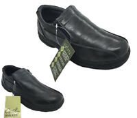 Mens Shoes Grosby Johnson Black or Grey Mens Twin Zip up Shoe Size UK6-12 New
