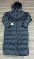 WOMENS NIKE DOWN FILL PARKA LONG JACKETS NAVY BLUE PUFFER SIZE EXTRA SMALL XS