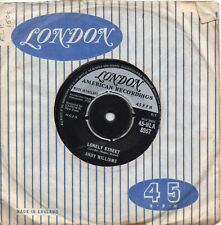 ANDY WILLIAMS   LONELY STREET / SUMMER LOVE    UK LONDON   50s/ 60s POP