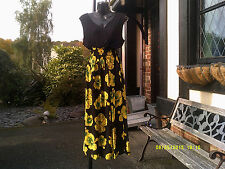 Vestido, Flor Nacional de Jamaica (hibiscus) Maxi Vestido Estampado.. un tamaño regular
