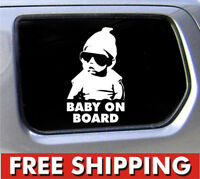 """New Cute """"Baby On Board""""Sign Vinyl Decal Funny Truck Car Window Hangover Sticker"""