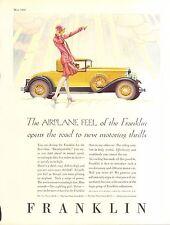 1929 FRANKLIN COUPE-PIERCE ARROW 2 PG  ORIG VINTAGE  CAR  AD