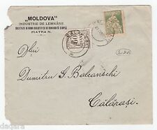 B.329 - Romania cover, 1922, Piatra Neamt - Calarasi,  Macarovici collection