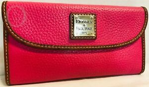 *Dooney & Bourke Leather*Pink Continental Clutch Wallet*19005E S134