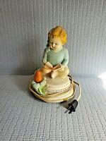 Vintage 1948 Chalk ware Child's Nursery Night Light Work 7'' T