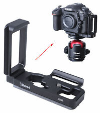 L- Vertical Quick Release Plate Camera Holder Bracket for Ball head Nikon D500