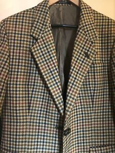 Ladies DAKS Signature 100% Wool  Tweed Check Jacket  UK Size 16