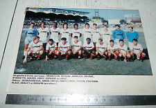 CLIPPING POSTER FOOTBALL 1987-1988 NIMES OLYMPIQUE CROCOS JEAN-BOUIN