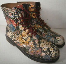 VINTAGE TREDAIR WOMENS UK 9 BOOTS FLORAL MEADOW FLOWERS LEATHER SHOES DR MARTENS