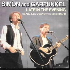 "45 TOURS / 7"" SINGLE--SIMON & GARFUNKEL--LATE IN THE EVENING--1982"