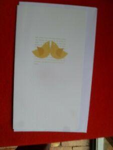 ECO FRIENDLY DETOUR DESIGN 2007 UNUSED CHRISTMAS GREETING CARD  BIRDS CUTE