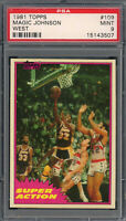 Magic Johnson Los Angeles Lakers 1981 Topps Basketball Card #109 PSA 9 MINT