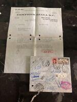 1938 Cairo Egypt Comptoir Belga Registered Cover To Kampala Uganda