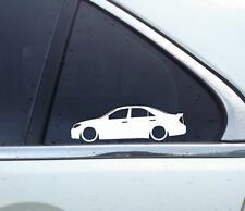 Lowered car outline stickers - for Toyota Camry, XV30 (2002–2006) with spoiler