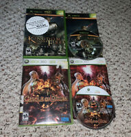 Kingdom Under Fire The Crusaders & Circle Of Doom Xbox Original & 360 Lot Bundle