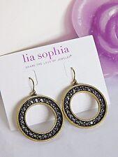 "Beautiful Lia Sophia ""GOLD COAST"" Dangle Hoop Earrings, NWT"
