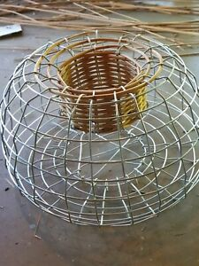 4mm Strong Steel Lobster trap with float and rope, bait bag and Anode