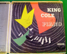"Nat ""King"" Cole  KING COLE at the PIANO Disque vinyle double EP 1954"