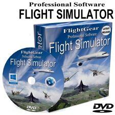 Flight Gear Simulator X Real Flight Sim Game Software DVD Disc
