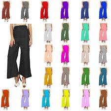 WFP Women Ladies Palazzo Wide Leg Baggy Trousers