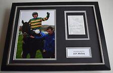 Tony AP McCoy SIGNED FRAMED Photo Autograph 16x12 display Horse Racing AFTAL COA