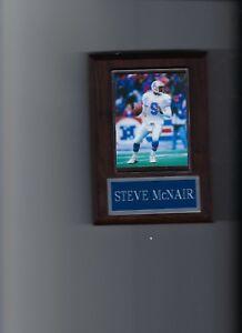 STEVE McNAIR PLAQUE HOUSTON OILERS TENNESSEE FOOTBALL NFL