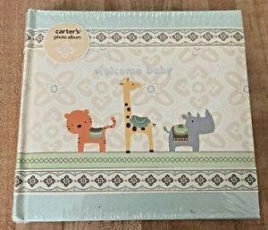 Carter's Welcome Baby Photo Album Animals Unisex NEW