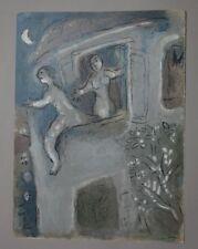 Marc CHAGALL David & Michal - lithographie originale, revue VERVE, 1960, MOURLOT