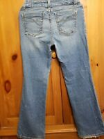 DKNY Womens Size 10 JEAN Boot Cut Stretch Light Blue Distressed Look Jeans