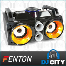 Fenton MDJ100 Rechargeable Portable BT Party Speaker Systems w/ LED Light Show