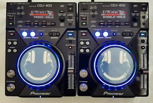 2 X PIONEER CDJ 400 SERVICED, MODED AS LIMITED, Cd Mp3 PC USB Controller Decks