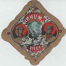 """""""RHUM VIEUX"""" Etiquette-chromo originale fin 1800"""