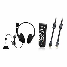 Xbox 360 Gaming Headset Deluxe with Microphone Boom + Media Remote Control