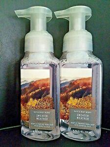 Bath and Body Works Sweater Weather Foaming Hand Soap 2 Pack 8.75 fl oz Each