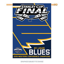 2019 Stanley Cup Western Conference Champion 28x40 Banner St. Louis Blues