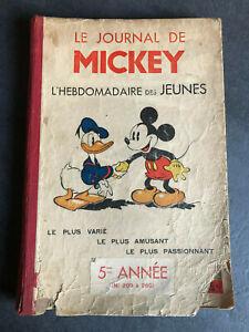 JOURNAL DE MICKEY 5 éme année N° 209 à 260  Album N° 5  1938   Reliure AVG