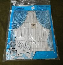 VINTAGE Knitted Curtains Permanent Press No Iron Everlon 100% Rayon 40x81 Panel