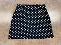 Banana Republic women black cream polka dot short formal pencil skirt size 8