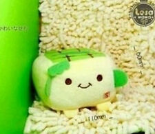 JAPANESE HANNARI TOFU PLUSH MOBILE PHONE STAND SOFT TOY *GREEN* 1pc