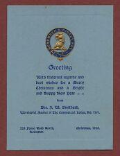 Leicester, Masonic, Christmas, 1930, J.W. Smithard, Fosse Road North, q1911 ,