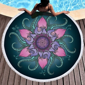 New European and American style octopus lotus pattern beach home carpet
