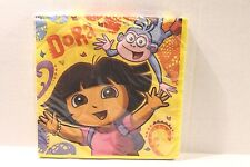 """Dora the Explorer Birthday Party Napkins 13"""" x 13"""" Package of 16"""